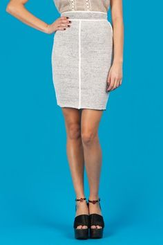 Tape Yarn Mini Skirt