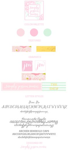Simply Jessica Marie Branding Board