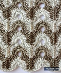 MyPicot | Free crochet patterns. ||  LOOK AT THIS BEAUTIFUL NEW PATTERN FROM MY PICOT! AS USUAL, SHE GIVES US PLENTY OF COLOR CHOICES. (1 of 3)  ♥A
