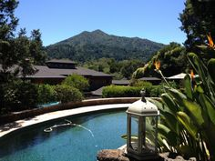 Stunning Mt. Tam view from pool of Kentfield home - Marin County, CA