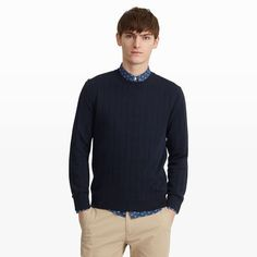 Club Monaco Rib-Stitch Sweater