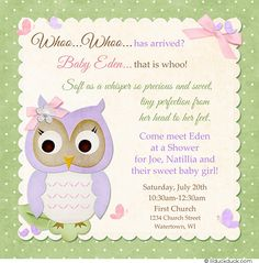 Woodsy pink owl shower invitation little girl pretty bluebirds meet and greet baby shower google search m4hsunfo
