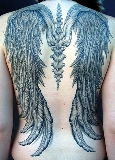 Wings tattoo. Would never get it but it looks awesome!