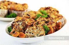 Muffiny z kurkami, muffiny, grzyby, śniadanie, http://najsmaczniejsze.pl #food #breakfast