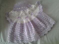 Angel top and frilled hat  - Crochet creation by Catherine