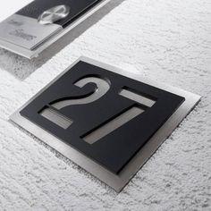 Hausnummer Edelstahl Acrylglas