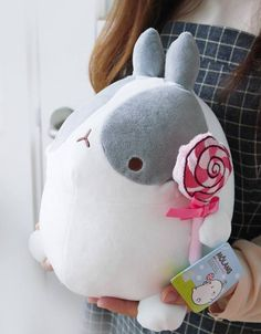 Molang plushy with lolly.