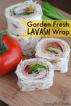 food recipes, garden fresh, onion and chive cream cheese, lavash recipes, garden lettuce recipes, food lavash, lavash wrap, green onions, sandwich wraps