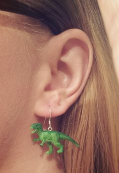 I bought a handful of tiny rubber dinosaurs and made me some tiny rubber T-rex earrings. I bought a handful of tiny rubber dinosaurs and made me some tiny rubber T-rex earrings. Cute Jewelry, Diy Jewelry, Jewlery, Jewelry Accessories, Jewelry Making, Fashion Jewelry, Jewelry Stand, Silver Jewelry, Luxury Jewelry