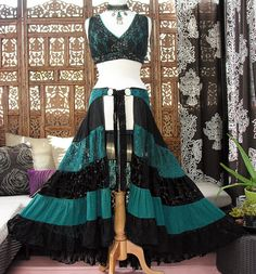 I think I can do this with a cool skirt I just bought that's too small for me!! Tribal Gypsy Belly Dance Multitier Boudoir by ScarletsGypsyLounge, $99.00