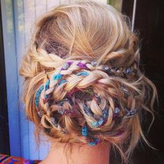 Looking for some beautiful bohemian braids to style your hair with? These 20 great styles are timeless and work for many different occasions. Bohemian braids are romantic, soft, fun, funky and can Boho Hairstyles, Pretty Hairstyles, Festival Hairstyles, Fashion Hairstyles, Hairstyles 2016, Hair Day, Your Hair, Bohemian Braids, Boho Braid