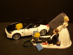 AUTO No CAR Wash Bride and Groom Wedding Cake Topper by mikeg1968, $60.00