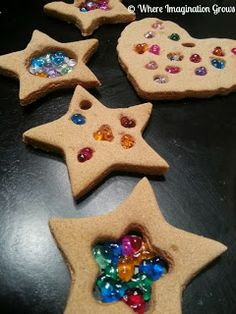 Salt dough ornaments melted beads