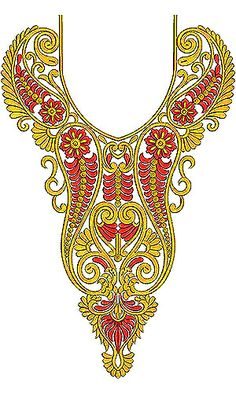 Now you can enjoy our Premium Range Embroidery Designs of Neck Embroidery Neck Designs, Silk Ribbon Embroidery, Beaded Embroidery, Embroidery Stitches, Embroidery Dress, Applique Patterns, Textile Patterns, Textile Prints, Design Of Neck