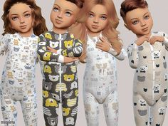 The Sims 4 Toddler Body Collection 02 Toddler Cc Sims 4, Sims 4 Toddler Clothes, Sims 4 Cc Kids Clothing, Sims 4 Mods Clothes, Toddler Outfits, Kids Outfits, Children Clothing, Girl Toddler, Sims 4 Tsr