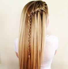 waterfall braids! have to try (: