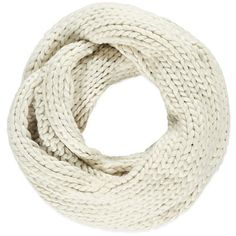 Chunky Knit Infinity Scarf ($17) ❤ liked on Polyvore featuring accessories, scarves, round scarves, loop scarves, infinity scarf, chunky knit scarves and forever 21 scarves