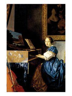 Jan Vermeer  (Delft 1632–1675)  Dame on Spinet