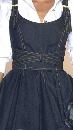 Making Clothes, How To Make Clothes, Dress Summer, Sewing Ideas, Indigo, Robes, Apron, Jumpsuit, Groomsmen