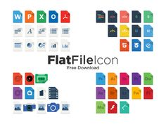 Free Vector Flat File Icons, #AI, #File_Type, #Flat, #Free, #Graphic #Design, #Icon, #Resource, #Vector