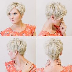 Simple Hairstyles for Short Hair: Short Layered Haircut for Women Over 30 - 40