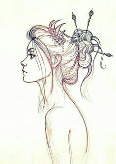 Fantasting Drawing Hairstyles For Characters Ideas. Amazing Drawing Hairstyles For Characters Ideas. Art Graphique, Sketch Art, Hair Sketch, Girl Drawing Sketches, Sketch Ideas, Art And Illustration, Graphic, Painting & Drawing, Drawing Tips