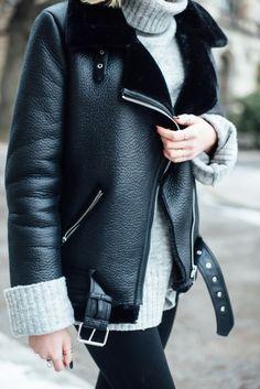 Die Shearling Jacke als It-Piece der Saison stylen - Zara Shearling Jacke als Acne Velocite Lookalike - kiamisu.de