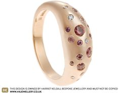 Gillian's Fairtrade Rose Gold Sapphire and Diamond Bombe Ring Dress Rings, Jewellery Designs, Fair Trade, Sapphire, Diamonds, Smooth, Rose Gold, Organic, Shapes