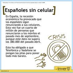 Por culpa de la crisis, los españoles siguen renunciando a sus celulares.