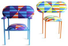 Loved these colored weird chairs:) 19 Greek Street opens in Soho