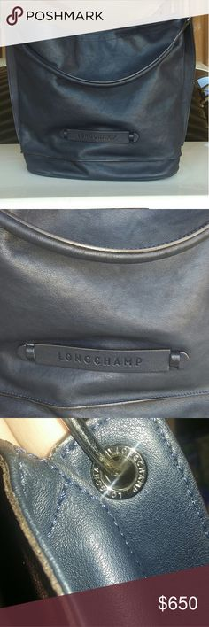 Longchamp Longchamp 3d leather purse not in new condition but still has alot of life left!  Few scuffs some wear see last 2 pics the last pic is the bottom ridges  not new! Longchamp Bags Shoulder Bags