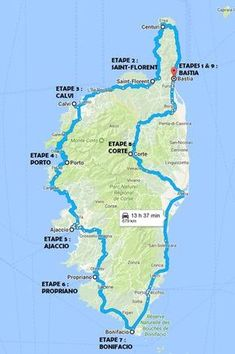 circuit race 15 days – Travel and Tourism Trends 2019 Road Trip France, Road Trip Europe, France Travel, Travel Route, Travel And Tourism, Places To Travel, Travel Destinations, Circuit Corse, Corsica Travel