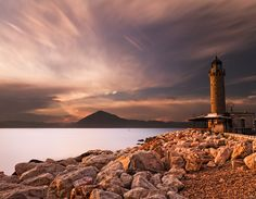 The lighthouse of the city of Patra at dusk, Peloponnese #greece #lighthouse