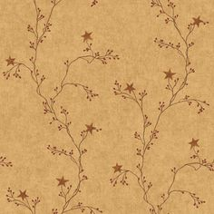 Amazon.com: York Wallcoverings RF3526 Country Book Star Berry Vine Wallpaper, Terra Cotta: Home Improvement