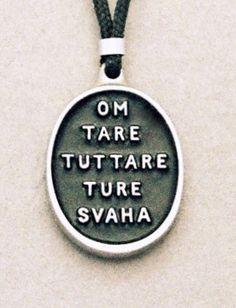 Tara mantra pendant - my favourite mantra #yoga