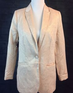 Nasty Gal  Nasty Women Blazer Sz Small S Coat Jacket Lined Pink Silver NEW #NastyGal #BlazerJacket #Formal