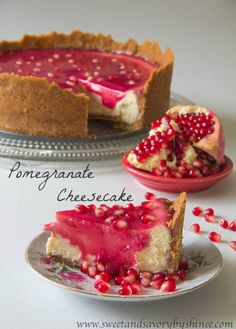 Pomegranate Cheesecake If I wasn't going to be so busy over the holiday season I would make this...