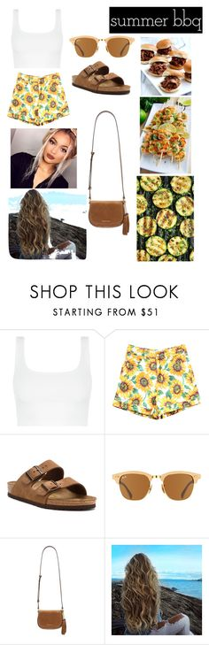 """Summer bbq contest"" by madisonevans25 ❤ liked on Polyvore featuring Birkenstock, Ray-Ban, MICHAEL Michael Kors and summerbbq"