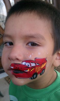 Cars Face Painting by Okidoki Face Painting - www.okidokifacepainting.com