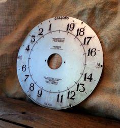 1930s Gas Pump Clock Face - Vintage Tokheim 850 Register Dial