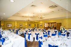 Ansty Hall's Orangery room set up for a wedding breakfast. Photography by Martin Hemsley.