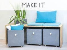 DIY : Créer un banc de rangements Diy Furniture, Home Furniture, Storage Bench, Diy Bank, Kids Furniture, Home Decor, Home Deco, Home Diy, Diy Home Furniture