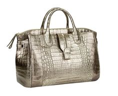 Nothing like a bit of metallic to brighten your day! Nancy Gonzalez Cristina Bag: High Hopes