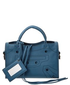 b6ea73db1d Balenciaga Balenciaga Blackout City Extra Small Leather Satchel City Bag
