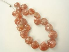 Sunstone Smooth Heart / 6 to 9 mm / 20 Pieces / ST-1043 by beadsofgemstone on Etsy