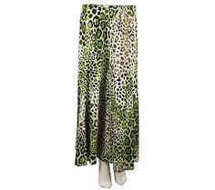 Susan Graver Printed Gauze Pull-on 6-gore Maxi Skirt - QVC.com