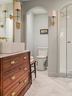 Would want door to toilet -sabbespot: Loft Bathroom Renovation: Before and After -niches for toilet and shower
