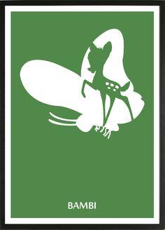 Bambi [James Algar Samuel Armstrong, «Disney Minimalist Author: David D Disney Pixar, Disney Films, Disney And Dreamworks, Disney Art, Disney Movie Posters, Movie Poster Art, Disney Minimalist, Minimalist Poster, Disney Fantasy