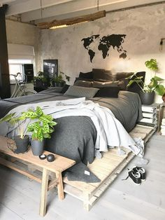 """Industrial Bedroom Interior Design Ideas How to """"expose Industrial Bedroom Design, Bedroom Themes, Simple House, New Room, Palette, Interior Design, Decoration, House Styles, Home Decor"""