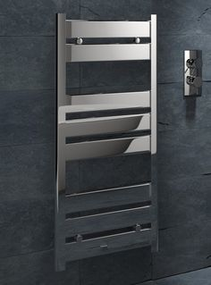Kudox Designer Towel Rail Almeria x Chrome Towel Rail, Ladder Bookcase, Chrome, Shelves, Design, Home Decor, Towel Racks, Shelving, Decoration Home